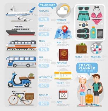 Travel planner infographics element