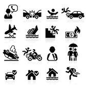 Photo Insurance icons set. Vector Illustration.