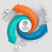 Moderní šipka obchodní šablona. Vektorové ilustrace. lze použít pro uspořádání pracovního postupu, diagram, možnosti čísel, web design, infografiky a časová osa