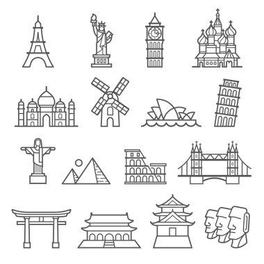 Landmark vector Icons.