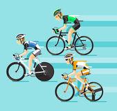Skupina cyklistů člověka v silniční cyklistika
