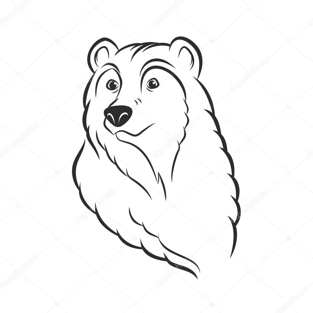 Kopf-Logo Vorlage Maskottchen Wappen tragen — Stockvektor © Teneresa ...