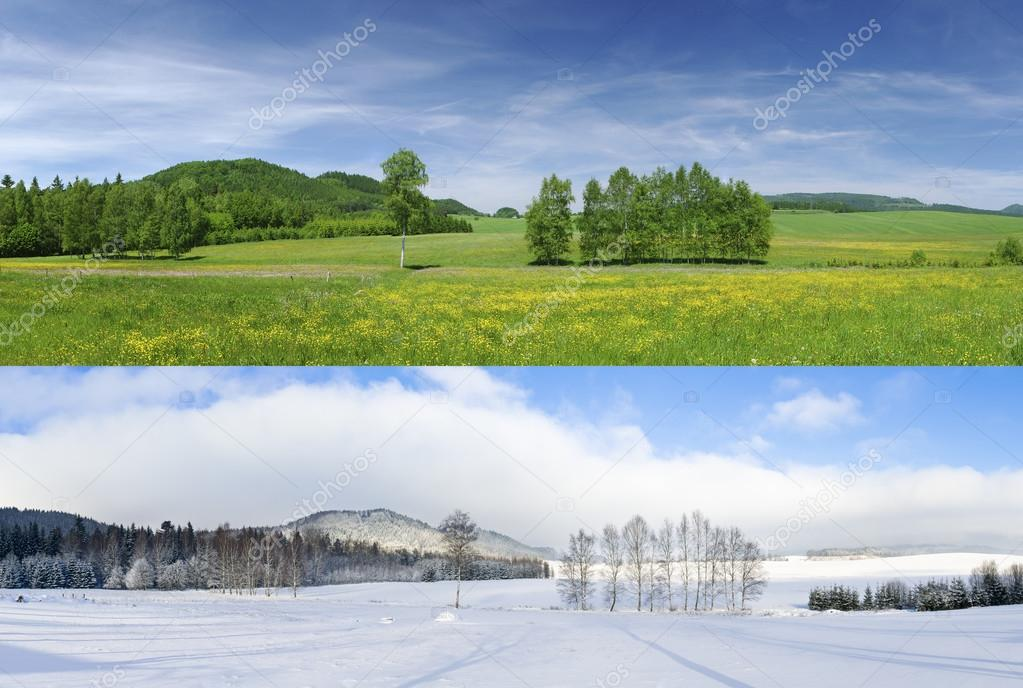 Winter and summer