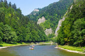 Dunajc v Pieninských horách, Polsko