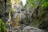 Photo Cliff with ladder in Slovak Paradise