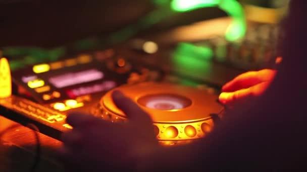 Dj mixing at the night club