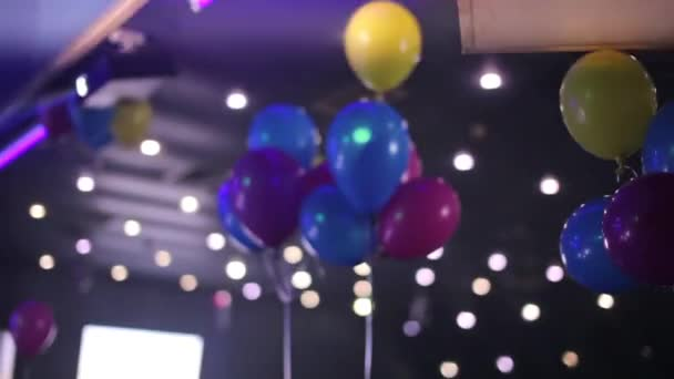 Color Balloons At The Night Club Stock Video