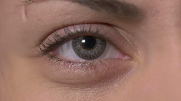Detail ženské oko s kontaktní čočky
