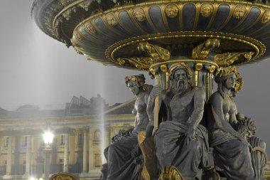 Fontaine des Fleuves, Concorde square, Paris, Ile de France, Fra