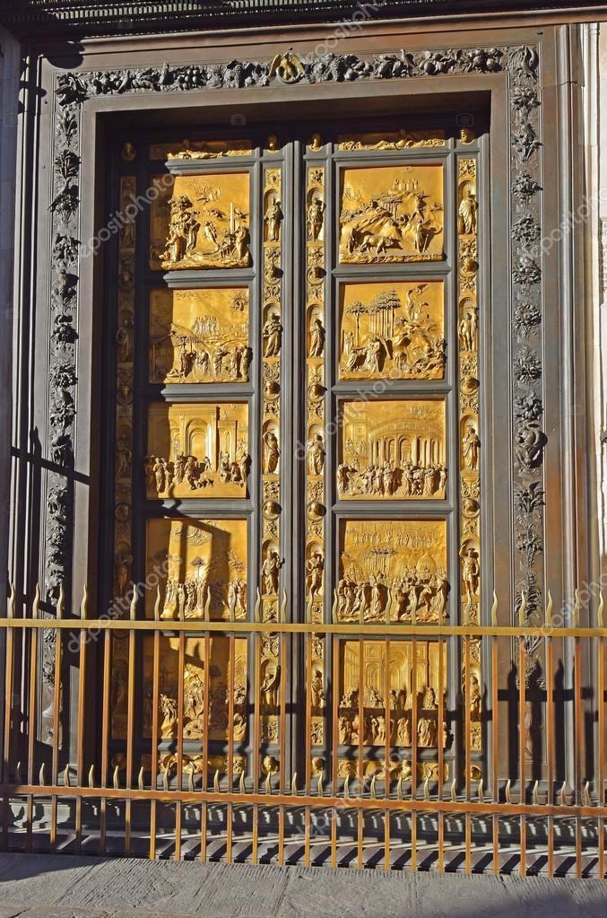 Puertas Del Paraiso De Lorenzo Ghiberti Florencia Foto De Stock