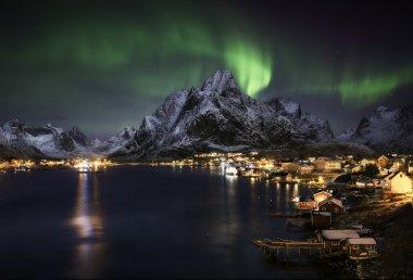 Northern lights over Reine, Norway