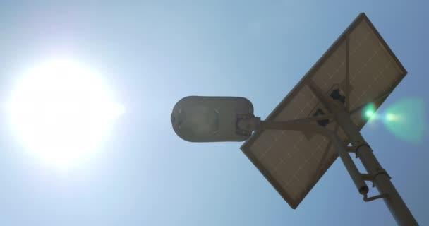 Lampada di illuminazione stradale con batteria solare u video
