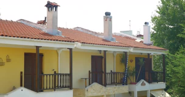 Apartment House with Chimneys on the Roof