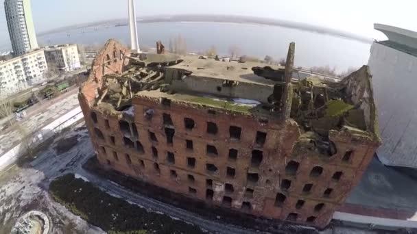 Let nad Gergart Mill, památník války ve Volgogradu, Rusko