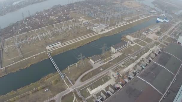 Elektrická zařízení elektrárny oblast, letecký pohled