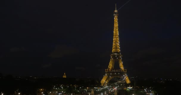 Light show of Eiffel Tower at night