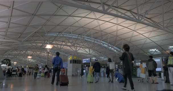 Hall with people in Incheon International Airport. Seoul, South ...