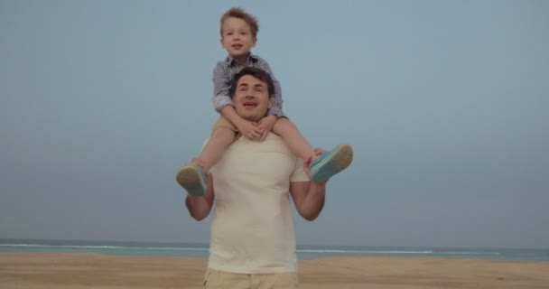Its a great fun to ride on fathers shoulders