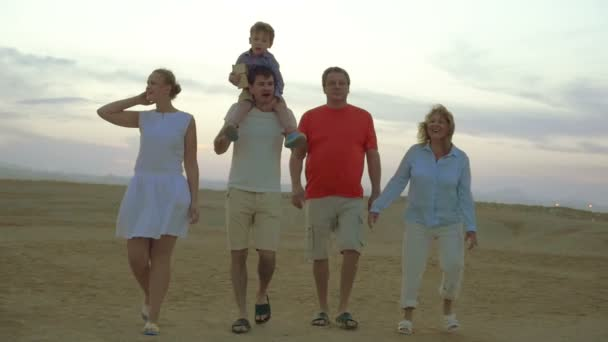 Their big family enjoying happy vacation time