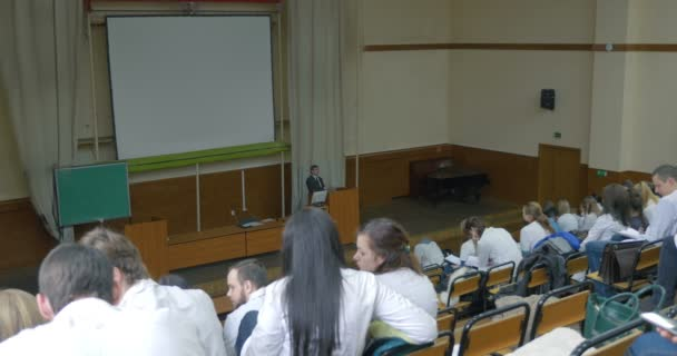 Lecture in auditorium of medical university
