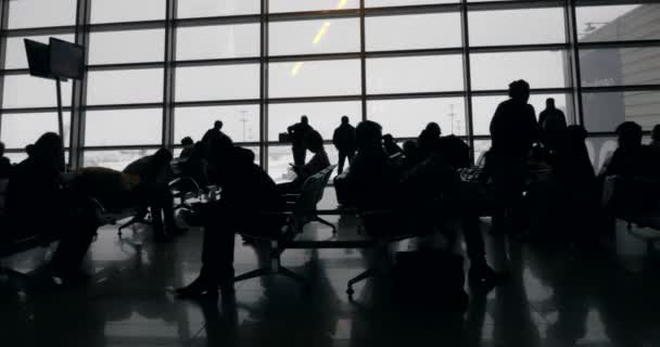 Long and boring time in waiting-room of the airport