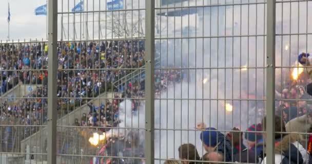 Football Fans Celebrating the Goal