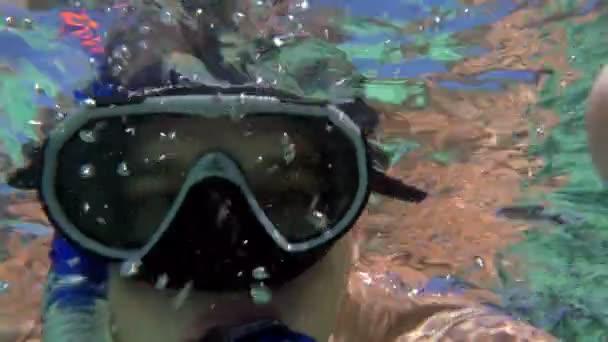 Young Man Making Underwater Selfie