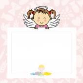 Baba lány szárnyakkal
