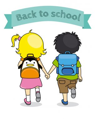 children holding hands back to school