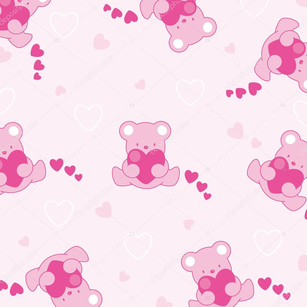 Baby pink background– stock illustration