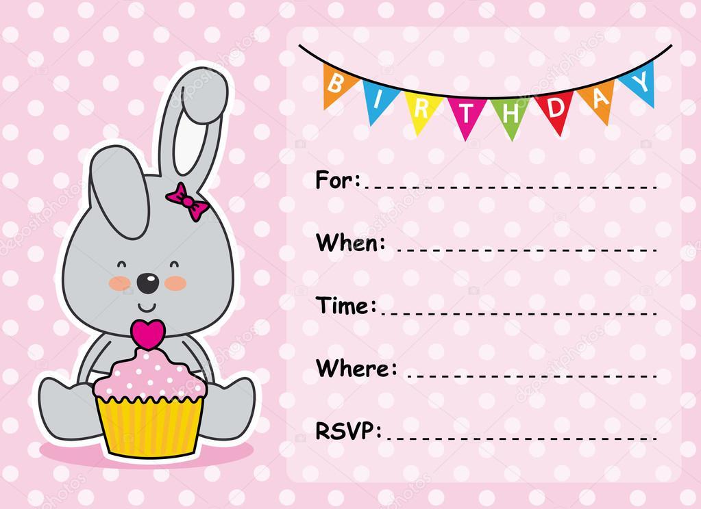 Tarjeta De Invitación Cumpleaños Niña