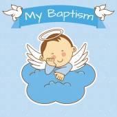 Photo baby boy baptism