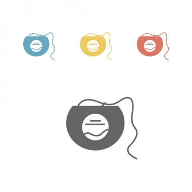 Dental floss icon. Vector signs for web graphics. icon