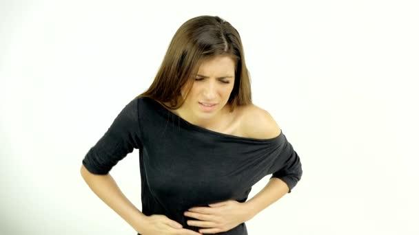 Žena není schopna dech pro silnou bolest, samostatný 4k