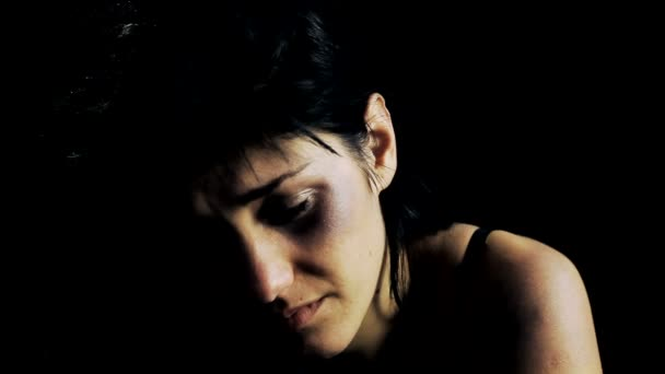 Woman with bruis after domestic violence