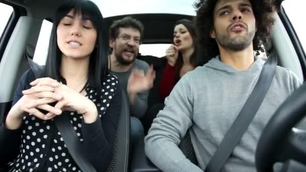 Beautiful people    in car
