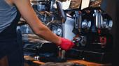 vágott kilátás barista gazdaság portafilter őrölt kávé