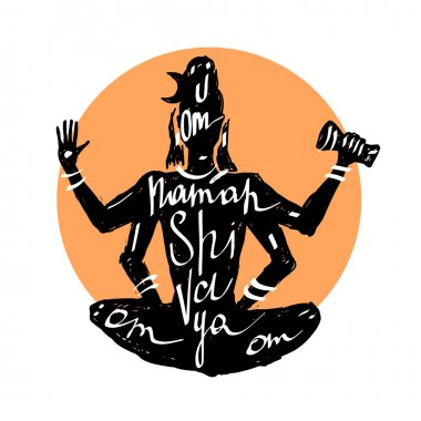 Lord Shiva. Typography poster