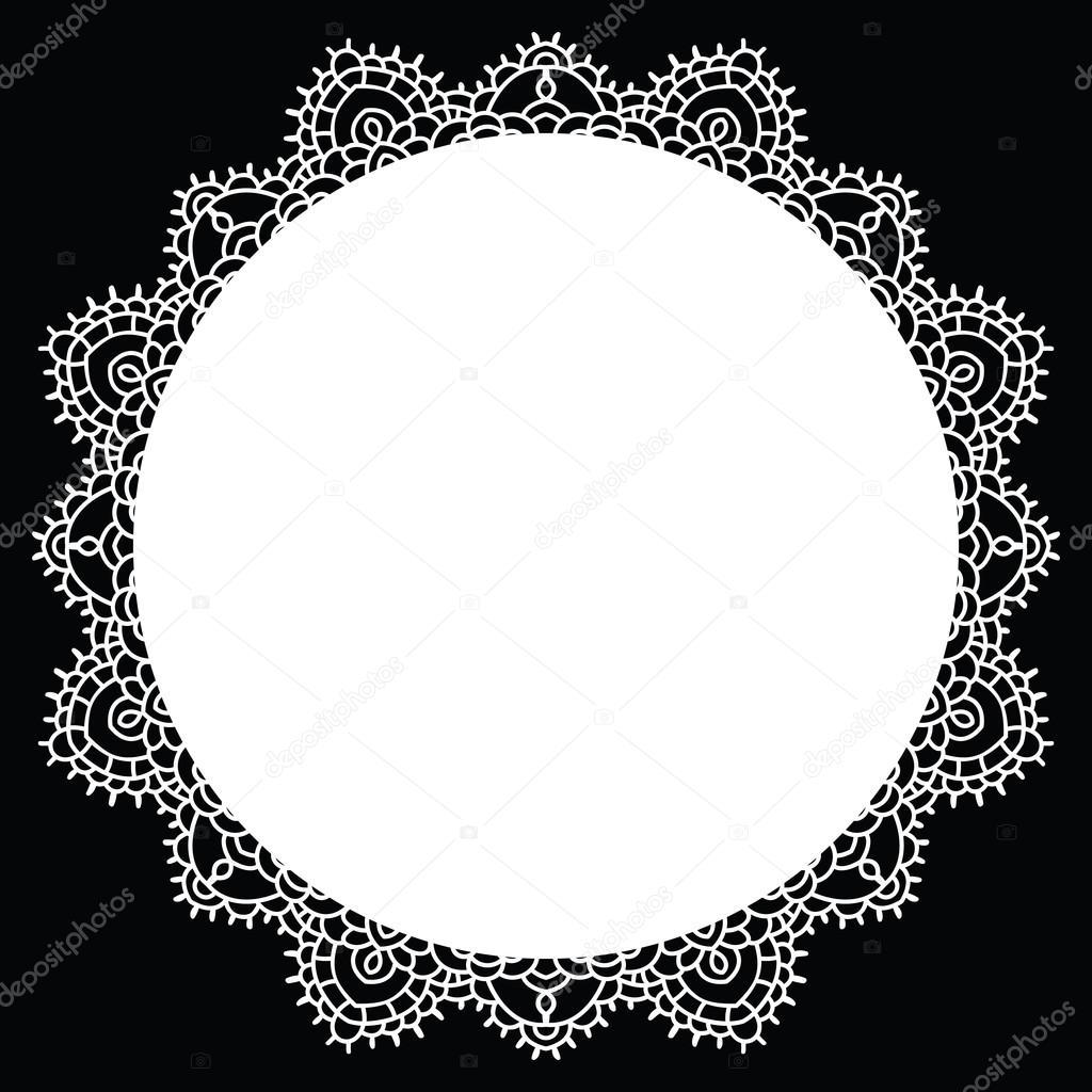 mandala encaje de ganchillo — Vector de stock © katyaulitina #51969833