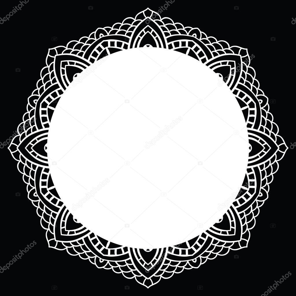 mandala encaje de ganchillo — Archivo Imágenes Vectoriales ...