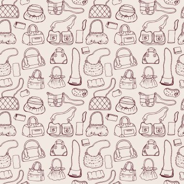 Women handbags. Seamless pattern.