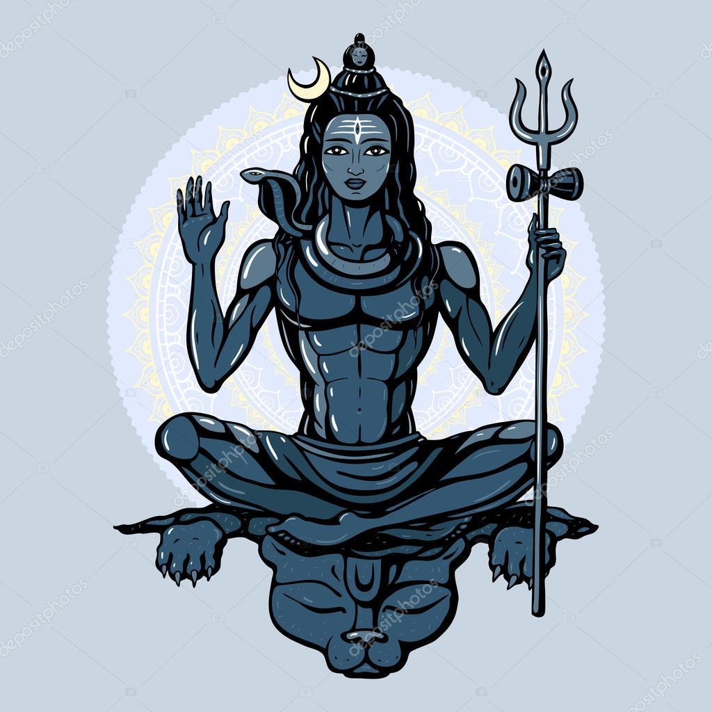 shiva dieu hindou image vectorielle katyaulitina 77697894. Black Bedroom Furniture Sets. Home Design Ideas