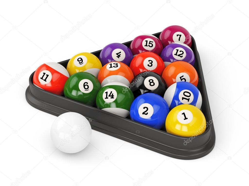 Pool Balls Triangle U2014 Stock Photo