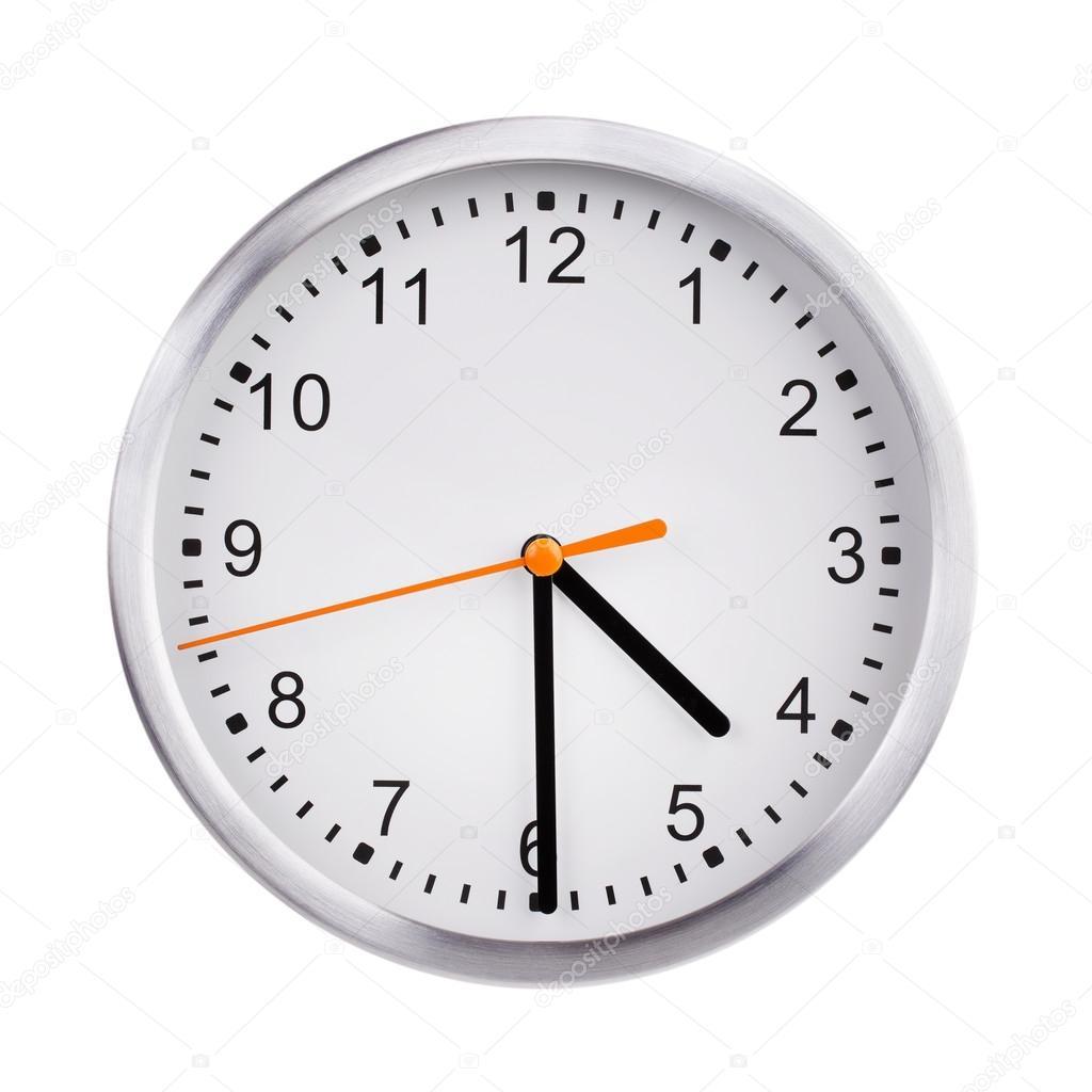 丸い時計のダイヤルの正午 — ス...
