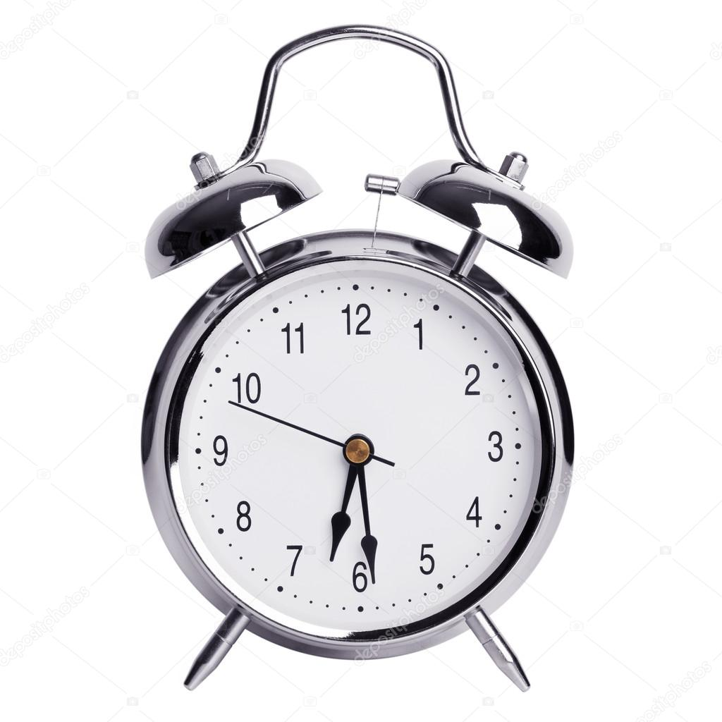 Half past six on an alarm clock — Stock Photo