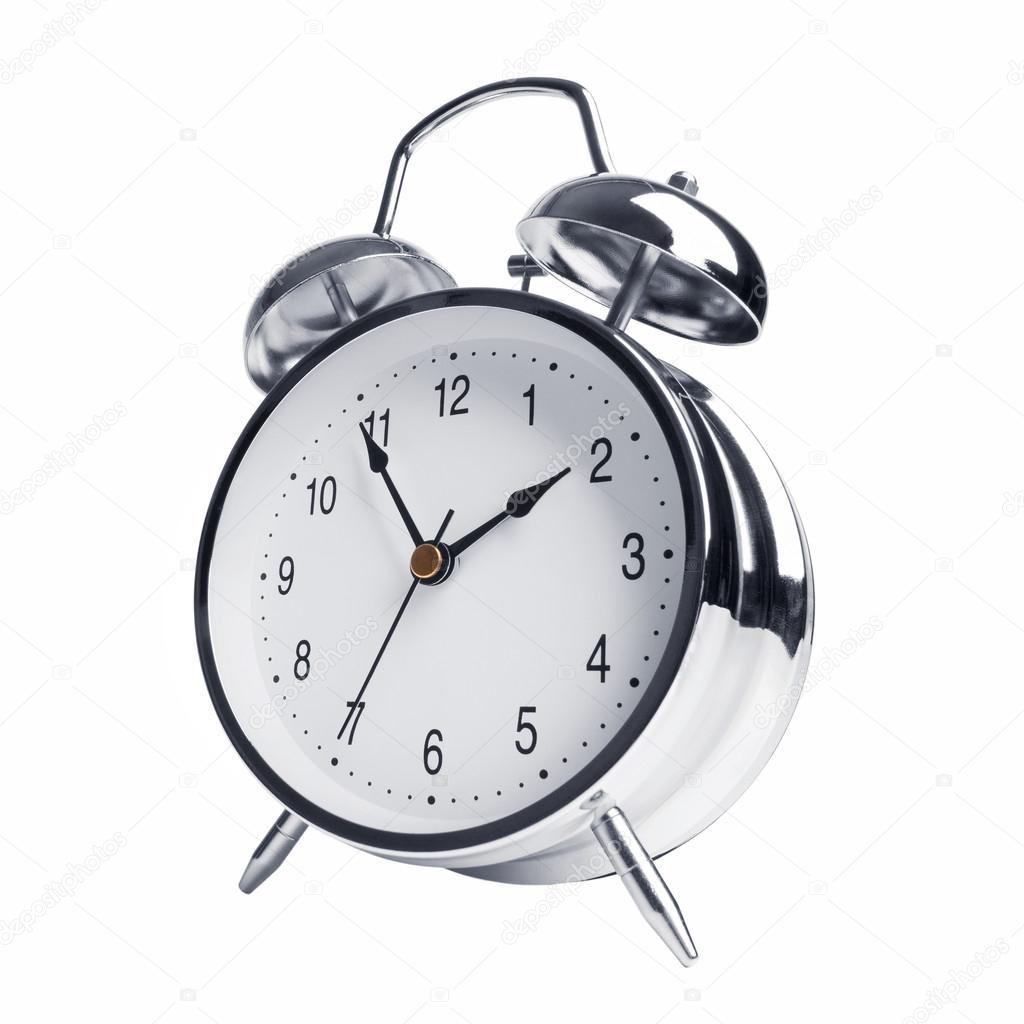 five minutes to two on the alarm clock stock photo