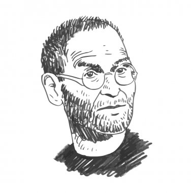 Portrait of Steve Jobs.