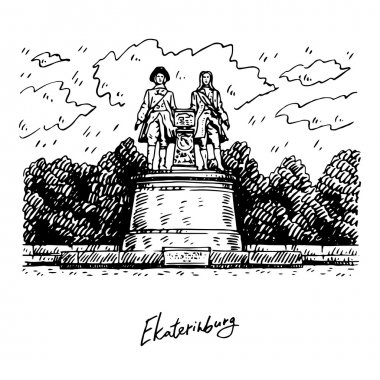 Monument of Vasily Tatishchev and William de Gennin