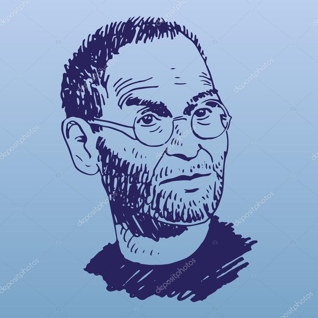 Portrait of Steve Jobs.