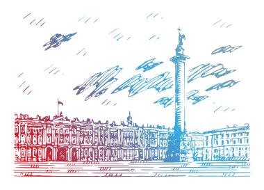 Sketch by hand. Vector illustration. clip art vector